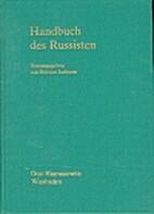 Handbuch des Russisten Sprachwissenschaft…
