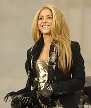 Author photo. Wikipedia Commons, Shakira in 2009