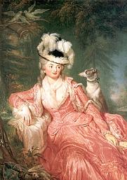 Author photo. Portrait of Wilhelmine Encke, since 1794 countess Wilhelmine von Lichtenau. Mistress of Frederick William II. of Prussia, Wikipedia