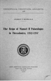 The Reign of Manuel II Palaeologus in…