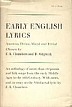 Early English Lyrics by E. K. Chambers