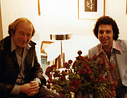 Author photo. Clive Epstein (former Beatles management director), with Beatles author Richard Warren Lipack, New York City, October 1978