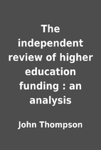 The independent review of higher education…