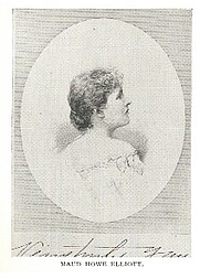 Author photo. Maud Howe Elliott (1854-1948) Buffalo Electrotype and Engraving Co., Buffalo, N.Y.