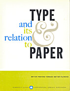 Type and its Relation to Paper by R. Hunter…