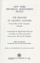 The register of Salomon Lachaire, notary…