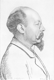 Author photo. Drawing by H.J. Haverman (1857-1928)