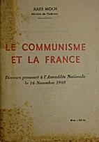Le communisme et la France, discours…
