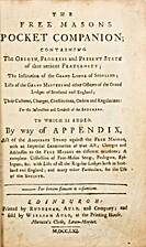 The Free Masons Pocket Companion; Containing…