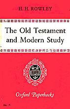 The Old Testament and Modern Study by H. H.…