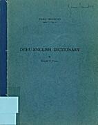 Dehu-English dictionary (Pacific…