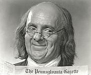Author photo. as Benjamin Franklin