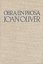 Obra en prosa by Joan Oliver