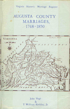 Augusta County Virginia Marriages 1748 1850…