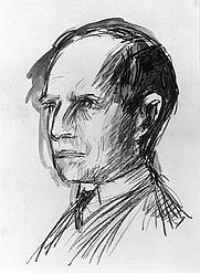 Author photo. Hans Bethge (Wilhelm Lehmbruck: Zeichnung von Hans Bethge, 1916)