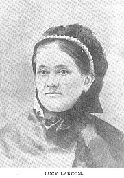 Author photo. Lucy Larcom (1824-1893), Buffalo Electrotype and Engraving Co., Buffalo, N.Y.