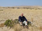 Author photo. Marcel De Cleene on Welwitschia