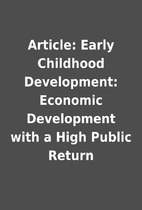 Article: Early Childhood Development:…