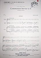 Communion Service in E by Harold Darke