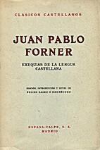 Exequias de la lengua castellana by Juan…