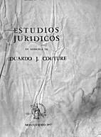 Estudios juridicos en memoria de Eduardo J.…