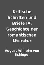 Kritische Schriften und Briefe IV.…