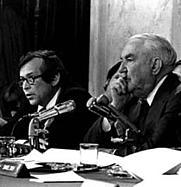 Author photo. Howard Baker and Sam Ervin investigate Watergate