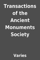 Transactions of the Ancient Monuments…