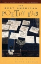 The Best American Poetry 1993 by David…
