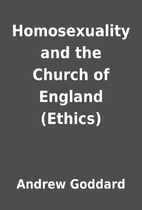 Homosexuality and the Church of England…