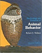 The ecology and evolution of animal behavior…