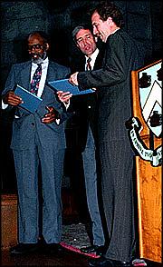 Author photo. Columbia University (Mr. Dash is at left)