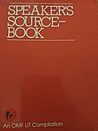 SPEAKER'S SOURCE-BOOK by OMF