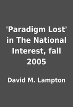 'Paradigm Lost' in The National Interest,…