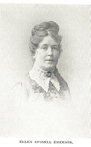 Author photo. Ellen Russell Emerson (b.1837) Buffalo Electrotype and Engraving Co., Buffalo, N.Y.