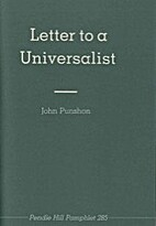 Letter to a universalist by John Punshon