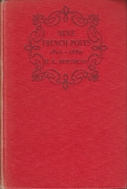 Nine French Poets 1820-1880 by H. E. Berthon