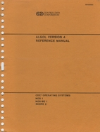 ALGOL version 4 reference manual by Control…
