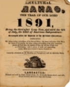 Agricultural Almanac for the year 1891 by…