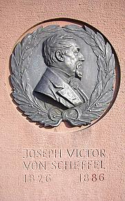 Author photo. Memorial to Joseph Victor von Scheffel, Heidelberg, Germany.  Photo by user korkodush / Flickr.