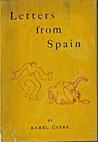 Letters from Spain by Karel Čapek