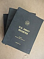 US Army Register, 1 January 1968. (4 vols.)…