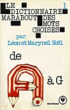 Le dictionnaire Marabout des mots croisés…