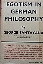 Egotism in German Philosophy by George…