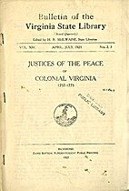 BULLETIN OF THE VIRGINIA STATE LIBRARY Vol.…