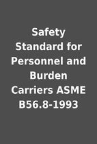 Safety Standard for Personnel and Burden…