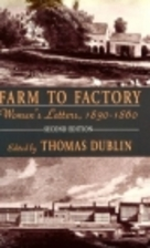 Farm to Factory by Thomas Dublin