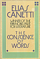 The Conscience of Words by Elias Canetti