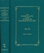 Book of Acts in the Setting of Hellenistic…