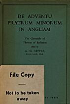 Tractatus de adventu fratrum minorum in…
